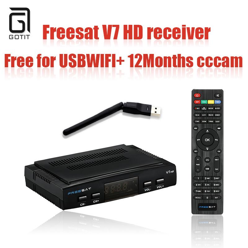 Prix pour 2016 numérique hd récepteur satellite dvb s2 Freesat V7 avec usb wifi cccam satellite récepteur tv box soutien 1080 P Full HD DVB-S2