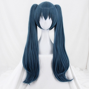 Image 2 - New Coming Tokyo Ghoul Yonebayashi Saiko Cosplay Wig Long Wavy Synthetic Hair Wigs With Double Clip On Ponytails
