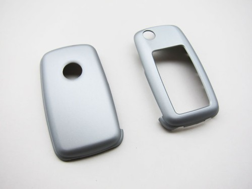 Aspiring Remote Flip Key Cover Case Skin Shell Cap Fob Protection Silver For Vw Mk6 Seat Skoda