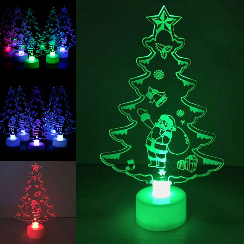 led color changing mini christmas tree home table party decor xmas perfect present yh 17 in. Black Bedroom Furniture Sets. Home Design Ideas