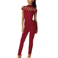 2a7fa21455c8 2017 Casual Women One Piece Outfits Jumpsuits Long Sleeve Bodycon Front  Zipper Hooded Long Pants Sexy Black Red Rompers Playsuit
