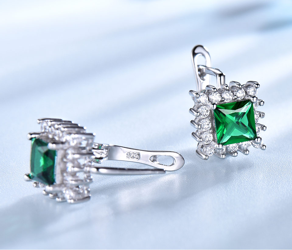 UMCHO Emerald 925 sterling silver jewelry set for women S019E-1 (6)
