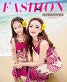 Семья одежда летний стиль соответствия мать дочь одежда пляж цветочные мама и дочь платье розничная 1 шт.