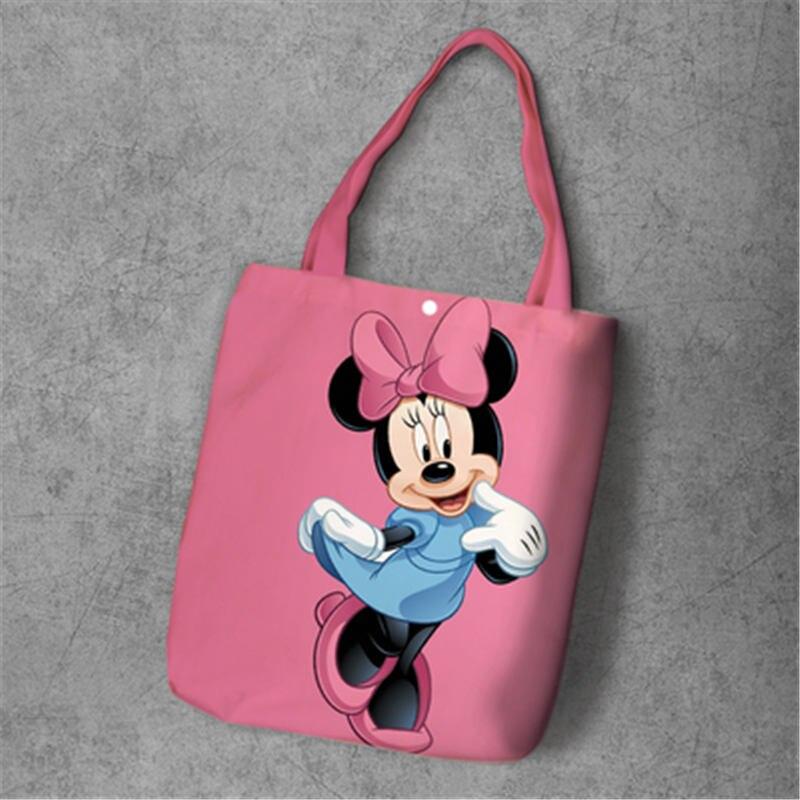 Disney Minnie Mickey Mouse Maus Stofftasche Jutebeutel  Shopper Einkaufstasche