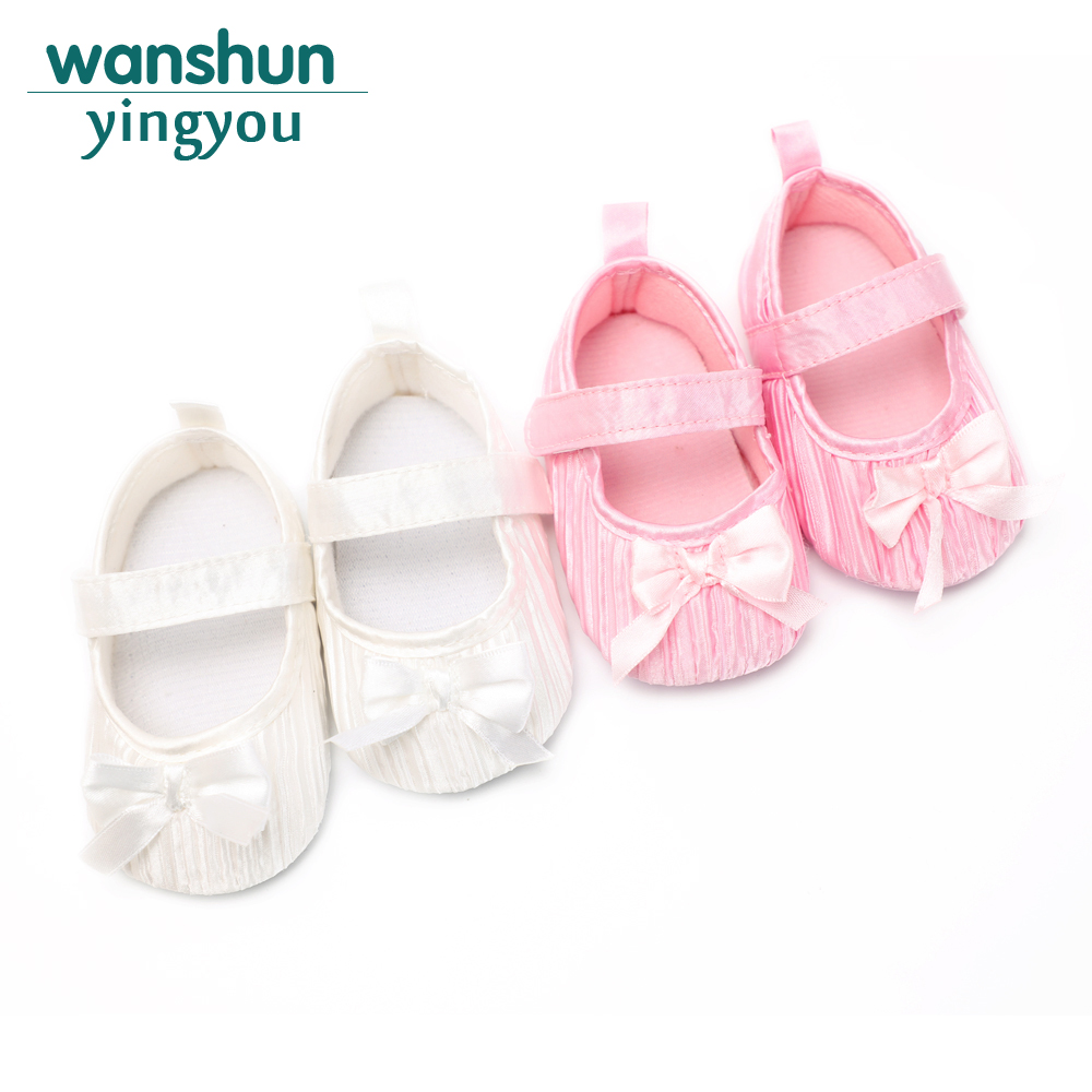 New Baby Shoes Sweet Dot Butterfly Bow Shoes Girls Baby Prewalker Easy And Simple To Handle Mother & Kids First Walkers