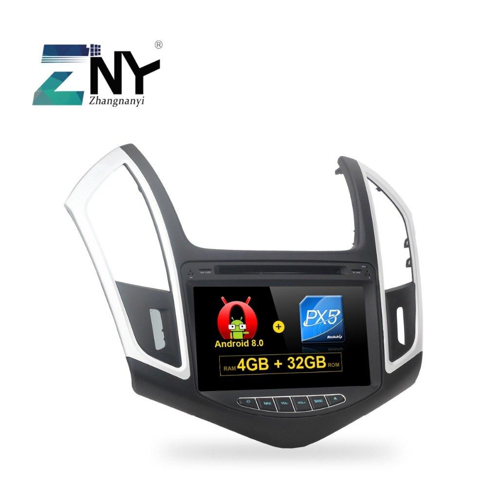 8 HD Android 8.0 DVD De Voiture Pour Cruze 2013 2014 2015 Auto Radio FM PC Stéréo GPS Navigation Audio vidéo Système De Sauvegarde Gratuit Caméra