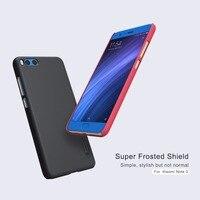 10 adet/grup Toptan Için NILLKIN Süper Buzlu Kalkanı Vaka Xiaomi Mi Not 3 (5.5 '') PC Plastik Arka Kapak Ile Ekran Koruyucu