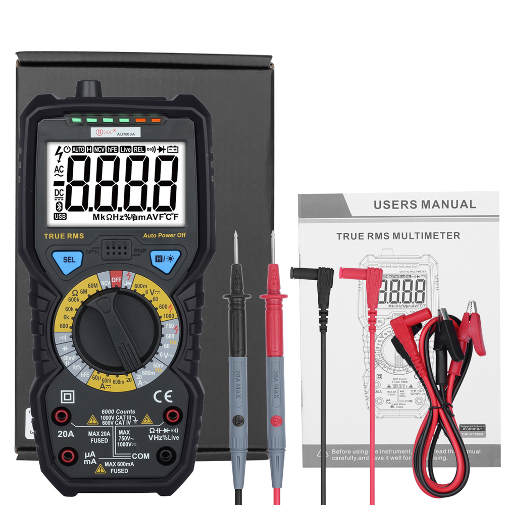 bside adm08a - BSIDE ADM08A True RMS Value Digital Multimeter DC/AC Capacitance Frequency Meters Testers Instrumentation Multitester