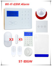 Big Discount 433/868Mmhz Wifi GSM Alarm System Wifi Network Home Alarm GSM Smart Security Alarm System