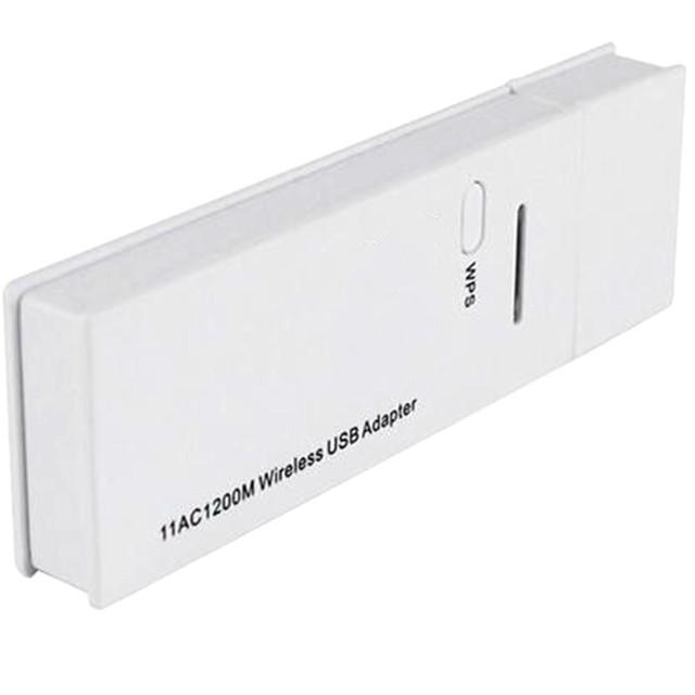 Nova Moda Conveniente Adaptador Wi-fi Portátil 1200 Mbps Placa de Rede Adaptador USB 3.0 Sem Fio de Banda Dupla