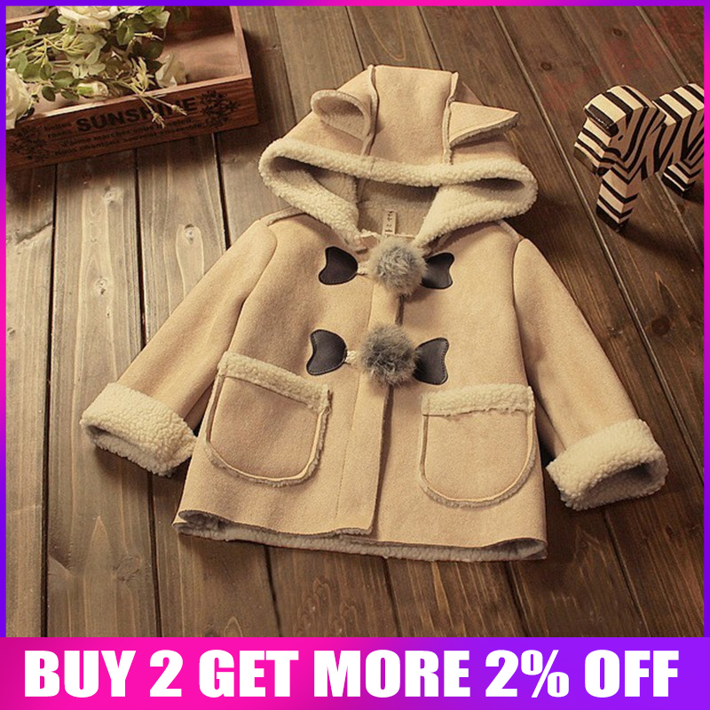 8a2563a4fe30 Pettigirl Spring Winter Hot Pink Hooded Coat Kids Warm Jacket With ...