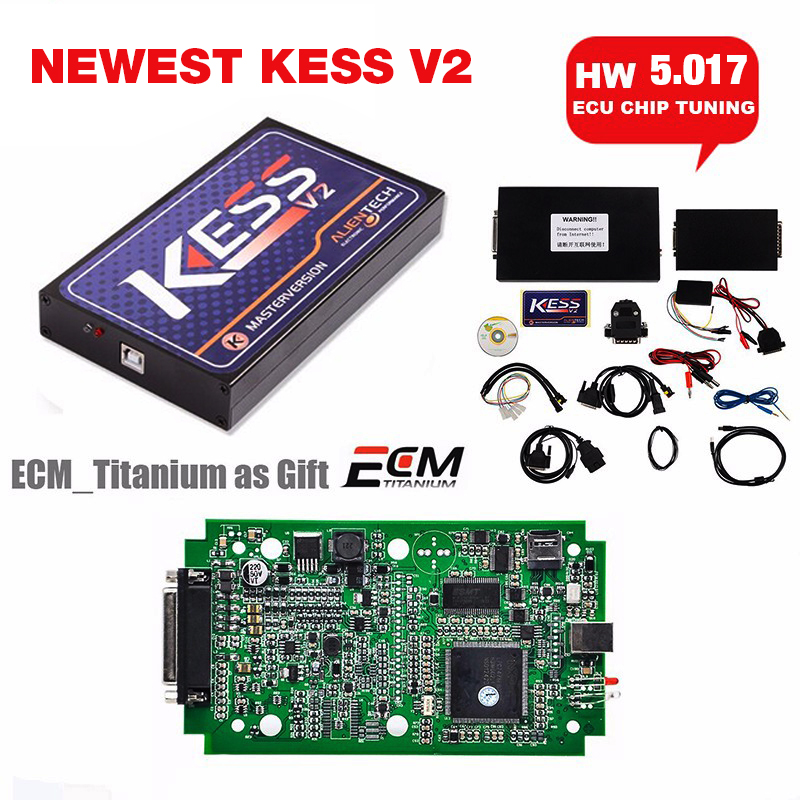 Новейшие КЕСС У5.017 Мастер менеджер версии obd2 Тюнинг комплект без ограничения маркеров бесплатные титаном ECM ECU чип tunning программер комплект КЕСС