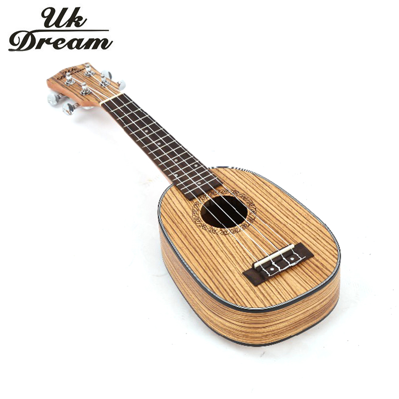 Musical Instruments 21 inch Ukulele Zebrano Closed Knob Wooden Guitar Pineapple Barrel Classic 4 String Guitar Uk Dream US-224P 1pc brown leather headphone earphone cable tie cord organizer wrap winder holder