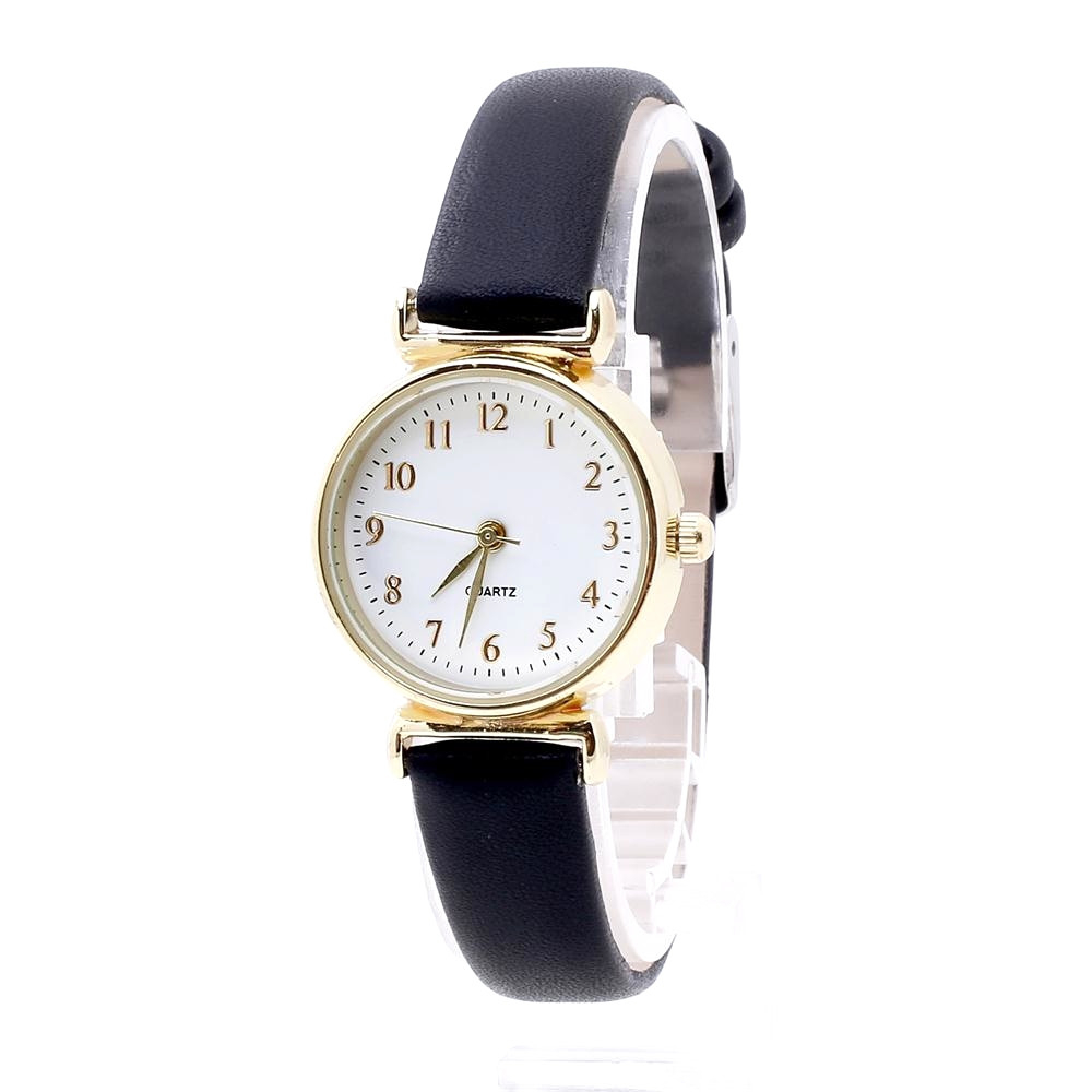 Womens Watch Mens Minimalist Watch Fashion Glass Round Skin Strap Alloy Quartz Lovers Dress Wrist Watches Relogio Feminino Lover's Watches