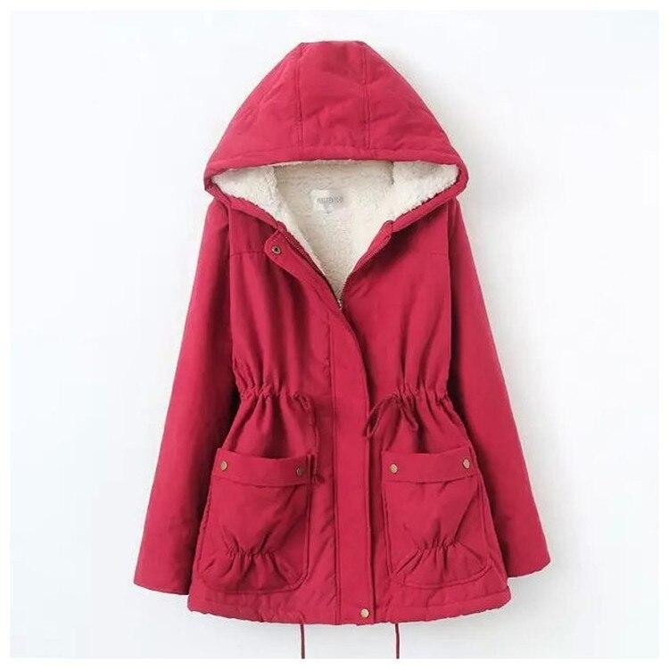 4XL 2016 Winter New Women Coat Large Size cotton coat Loose Hooded Lamb Wool Coats Winter Jacket thicken warm Cotton coat