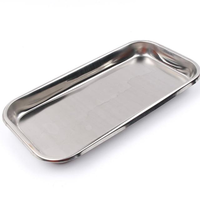1pc aço inoxidável bandeja de armazenamento comida prato frutas utensílios de mesa médico cirúrgica dental bandeja acessórios cozinha