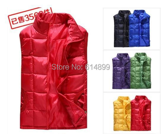 2015 Large size Women Winter vest 6 colors female sleeveless jacket vest warm autumn cotton vest  yellow / green /  blue /black