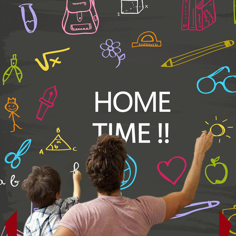 Creative Home Decor Black Board Wall Sticker para niños que enseñan - Decoración del hogar - foto 3