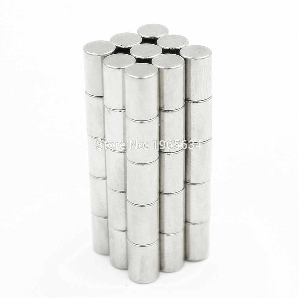 500pcs Neodymium N35 Dia 4mm X 8mm Strong Magnets Tiny Disc NdFeB Rare Earth For Crafts