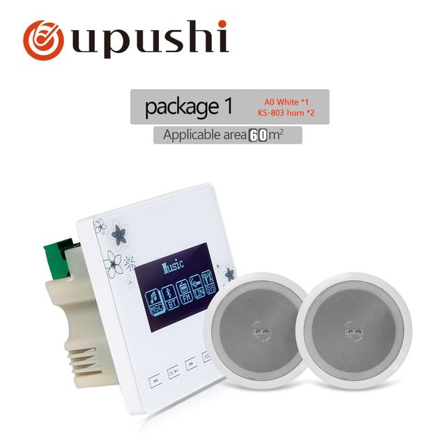 OUPUSHI A0 + KS803 Sistema de música Bluetooth estéreo Digital en la pared y amplificador de altavoz de audio para familia Sistema de música