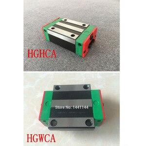 Image 2 - 25mm 2 sztuk HGR25 prowadnica liniowa z 4 sztuk prowadnica liniowa HGH25CA lub HGW25CA części CNC