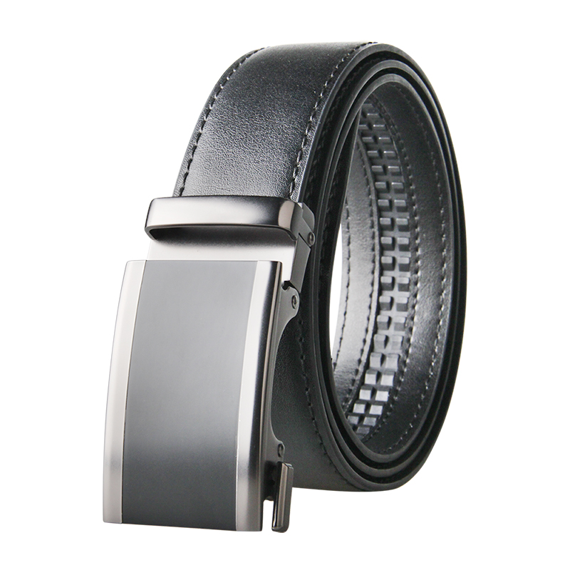 Famous Brand Belt Men Good Quality Cowskin Genuine Luxury Leather Men's Belts for Men Strap Male Metal Automatic Buckle Belt