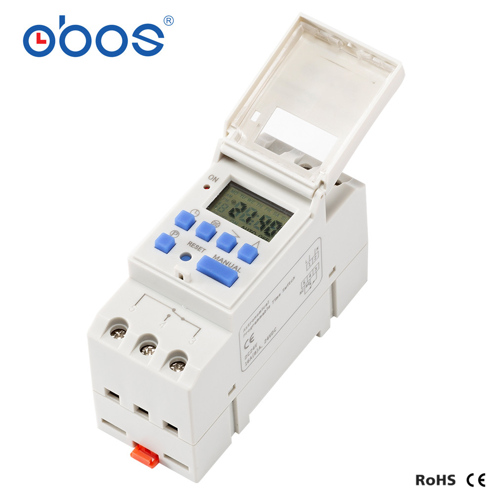 Latitude and longitude DIN Rail 220VAC 25A School Bell Timer BS26W With CE Automatic Programmable Digital Timer Switch