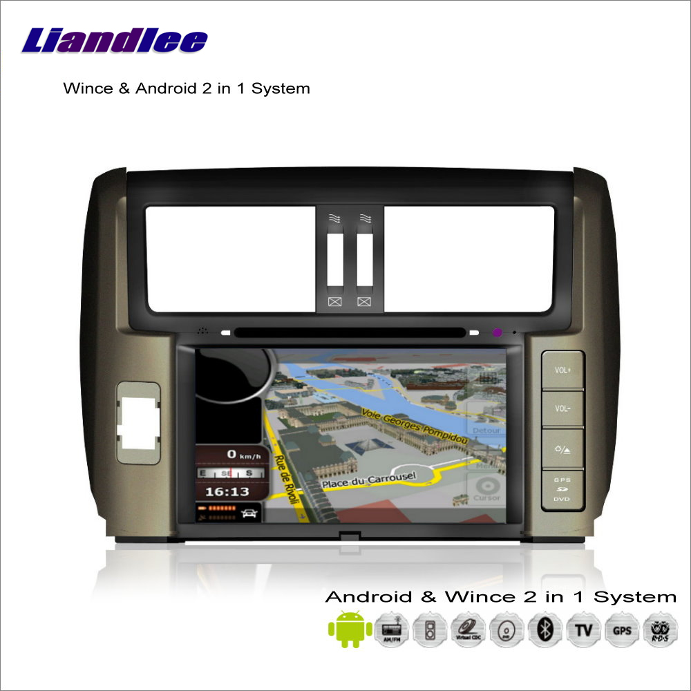Liandlee автомобильное мультимедиа андроид стерео для Toyota Land Cruiser Prado J150 2010 ~ 2013 радио DVD плеер gps навигации аудио видео