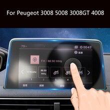 1 шт. автомобильный gps навигация закаленное стекло экран протектор для peugeot 3008 5008 3008GT 4008 2017-2018 сталь экран защитная пленка