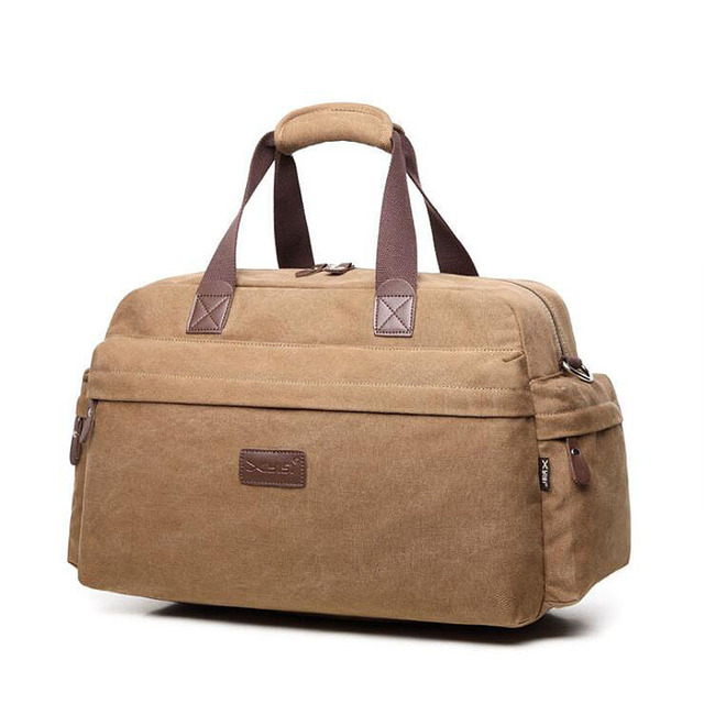 a228415af6 High Quality Canvas luggage bag Men Travel Bags Large Capacity Travel Duffle  business Shoulder Bags free