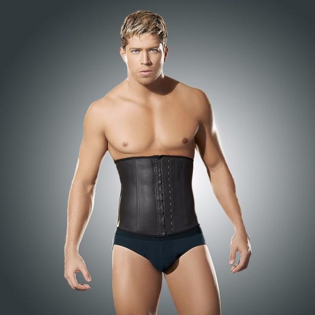 Gettingm forma látex Trainer cintura Vest para homens cintura Cincher Firm Tummy emagrecimento masculino barriga cintura Cincher do espartilho cintura Shaper