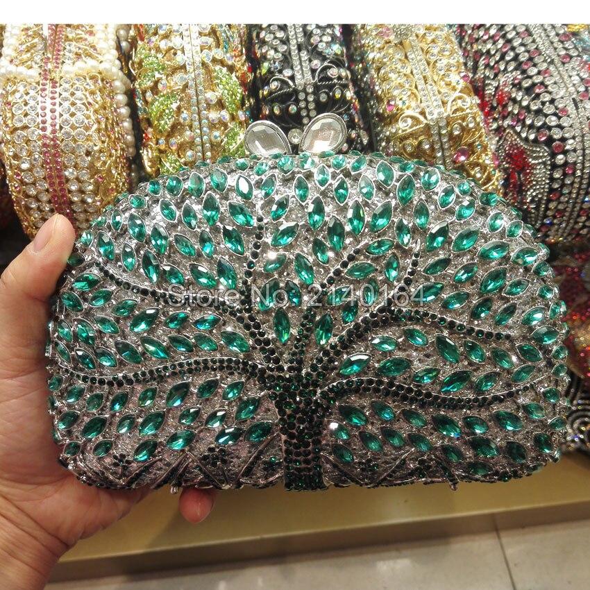 Cristal de lujo del embrague Bolsa bolso de Noche Bolso De Las Mujeres del patró