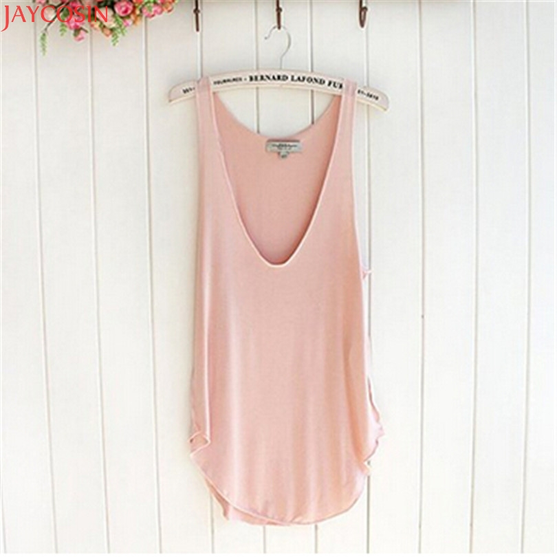 00Durable 2018 New Fashion Summer Woman Lady Sleeveless V-Neck Candy Vest Loose   Tank     Tops   T-shirt 78#