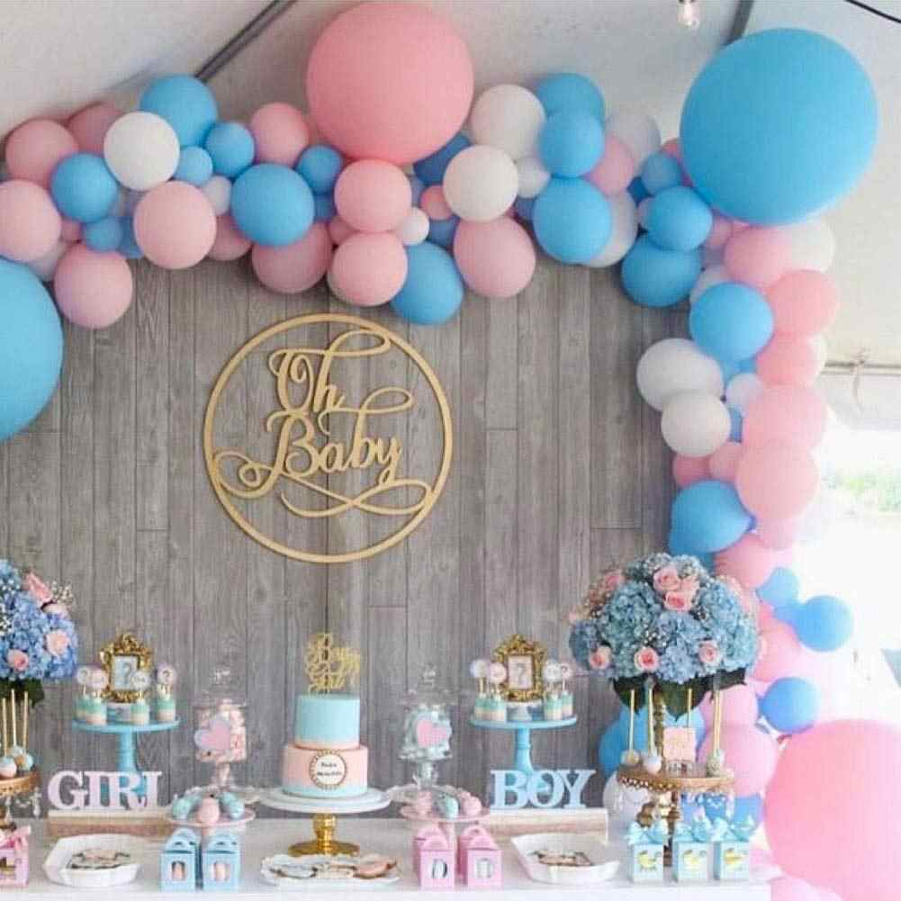 30 Pcs Gender Reveal Balloons Girl or Boy Latex Balloon 12 Inches Pink Blue Party Balloon for Gender Reveal Baby Shower Themed Decorations