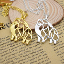 LPHZQH fashion cartoon pupy Pomeranian dog pendant necklace Women chain choker Collar necklace charm Jewelry silver gold color