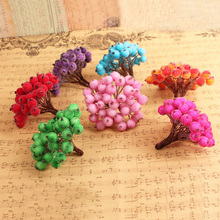 40 Heads Mini Christmas Frosted Fruit Berry Holly Artificial Flower Diy Home Christmas Decoration Decorative