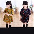 2016 nova Hoodie das roupas e acessórios para crianças da menina do menino Um longo vestido de algodão de mangas compridas camisa SY453