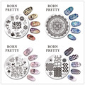 10 Sheets/set BORN PRETTY 5.5cm Round Nail Art Stamp Template Manicure Image Plate BP91-100