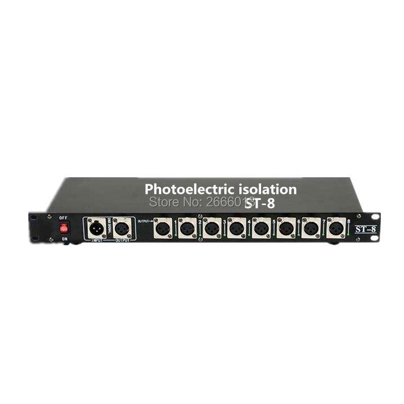 Niugul DMX512 Splitter Light Signal Amplifier Splitter 8 Way DMX Distributor With Photoelectric Isolation Stage Light Controller 2pcs lot 8 channel output dmx dmx512 led controller signal amplifier splitter distributor with photoelectric isolation