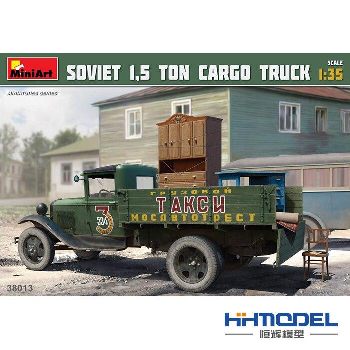 Assembly model 38013 1/35 Soviet 1.5 ton freight truck hobbyboss model 83801 us white 6666 ton truck hardtop