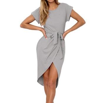 f9661605581c4 Yeni Yaz Kadın Elbise Diz Boyu Seksi Bandaj Bodycon Elbise Kısa Kollu  Günlük Elbiseler Sundress Femme Vestidos