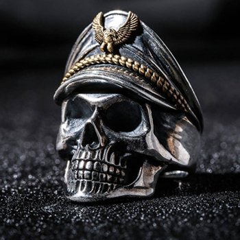 Classic Gothic Skull Men Ring Anniversary Ring Black Punk Rock Rings for Women Fashion Jewelry Anillos Mujer Wholesale F5X291
