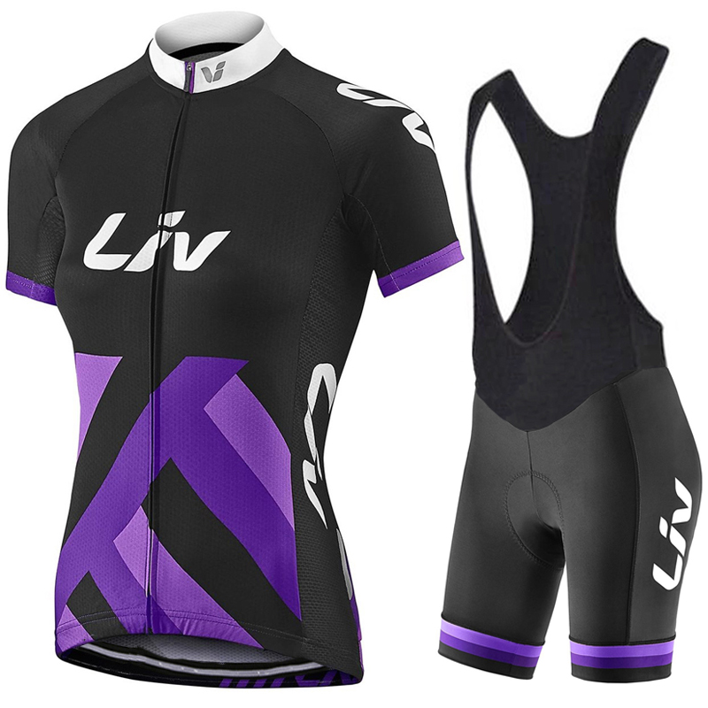 2018 New LIV short Cycling Jerseys Anti-Wrinkle cycling clothing Bib Shorts Quick Dry Mountain Bicycle Jerseys Wear Clothes Sets