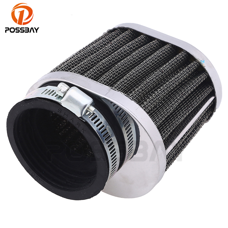 POSSBAY 50MM Motorcycle Air Filter Scooter Air Filter Motorbike Air Pod Cleaner Intake Filter For Yamaha Kawasaki Suzuki Honda starpad for cfmoto spring motorcycle 650 series air filter