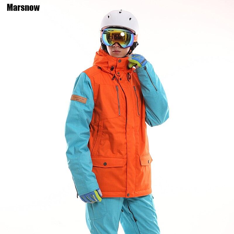 Marque Nouvelle Hiver Vestes Hommes En Plein Air Thermique Coupe-Vent Imperméable respirant Comprimé Snowboard Escalade Neige Ski Vêtements