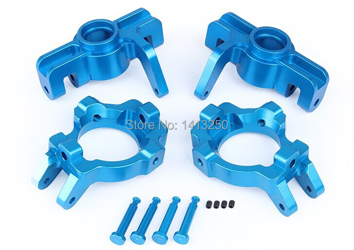 LOSI 5T Spare parts, CNC metal front wheel bearing kit for LOSI 5IVE-T silver, Blue choose billet rear hub carriers for losi 5ive t