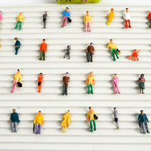ФОТО 300pcs mixed painted model trains people passengers figures scale 1:100 make the model  train layout