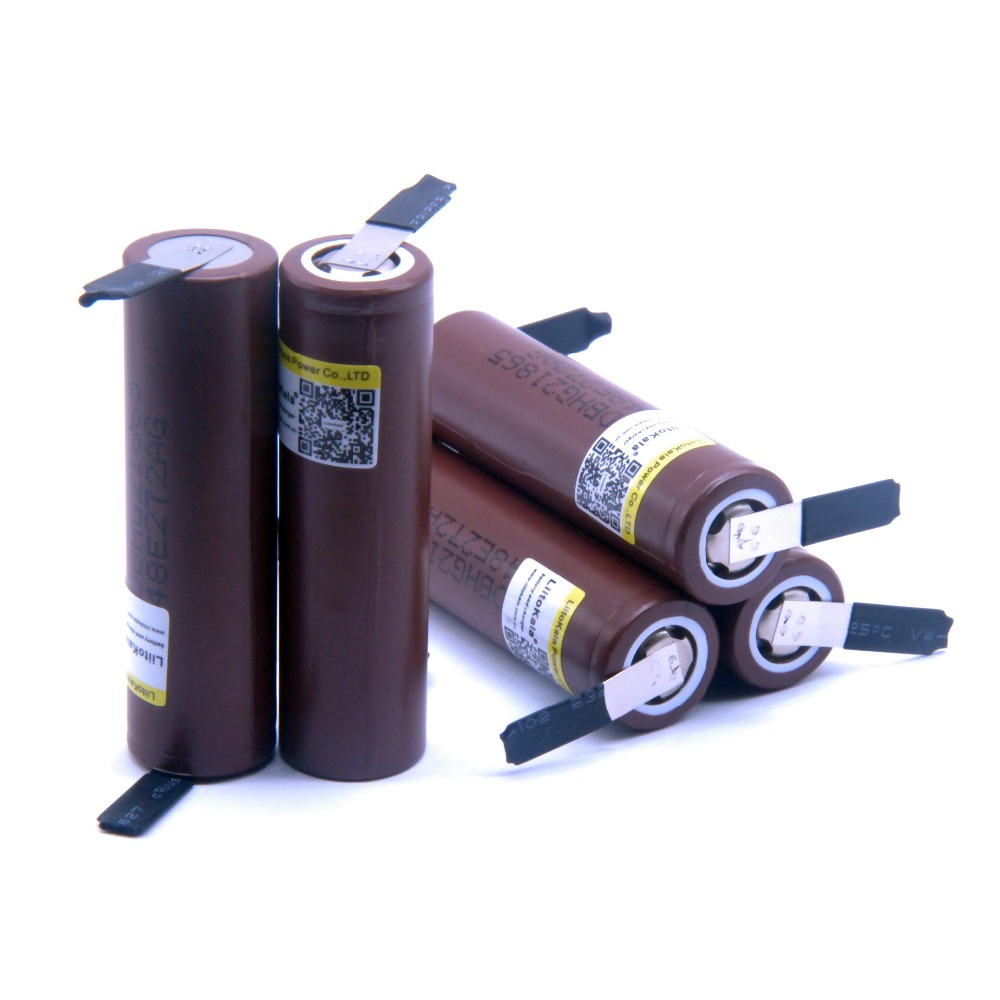 купить 4pcs LiitoKala Original for HG2 18650 3000mAh battery 3.6V discharge 20A dedicated electronic cigarette +DIY Nicke по цене 746.96 рублей