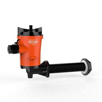 Réservoir Sous Pression Lowes | 800GPH 12 V DC Livewell Vivant Appât Réservoir Aérateur Submersible Cartouche Cale Bateau Pompe Coudée