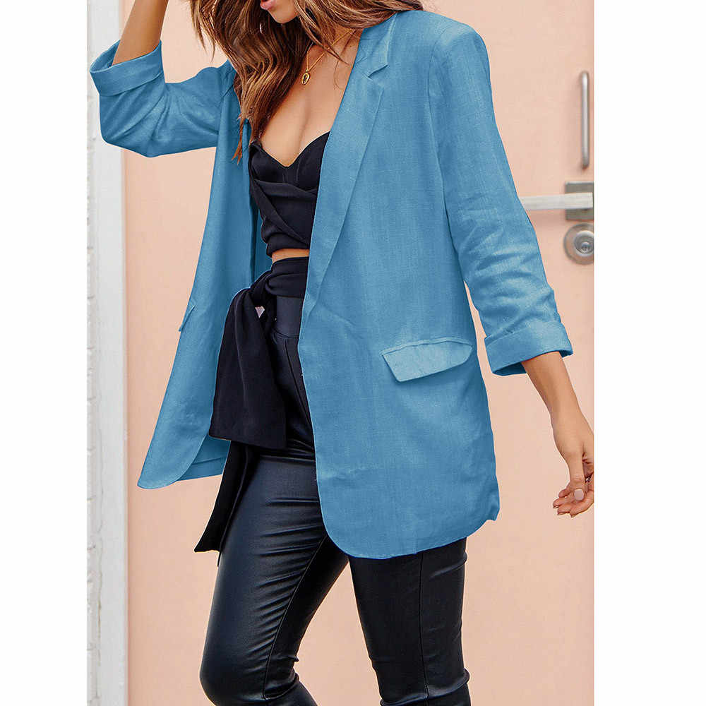 c49bf1ce9c ... Women Casual Work Suit Long Sleeve Loose Office Coat Jacket Blazer  Jacket Suits Female 2018 Fashion ...